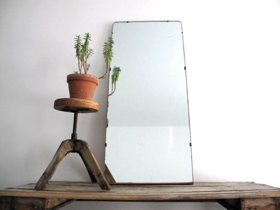 Vintage floor mirror large decorative mirror by for Large decorative floor mirrors