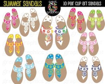 Sandal Clip Art Digital Clip Art Sandals Printable Clip Art Summer Sandal Printable Clip Art