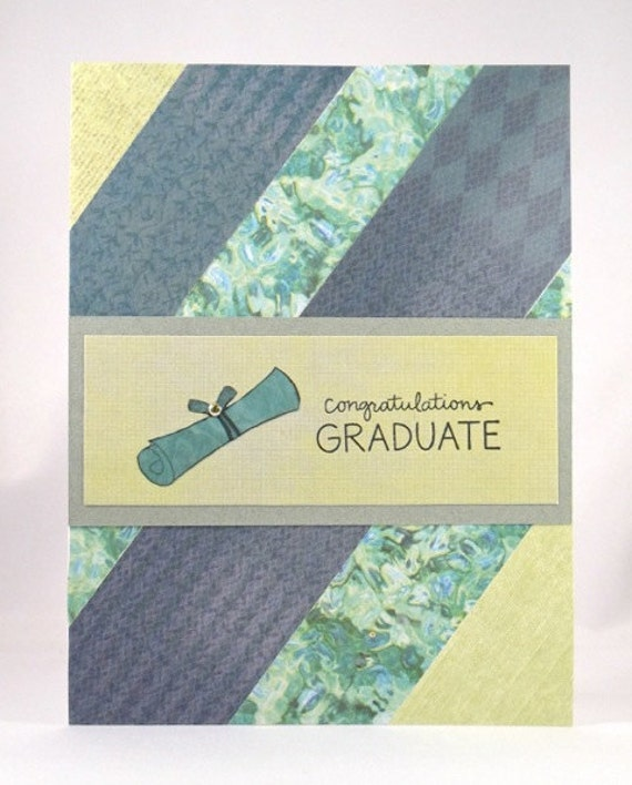 Green Congratulations Graduation Card--CLEARANCE