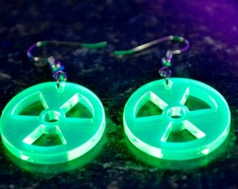 Radioactive Material - the Trefoil Symbol Acrylic Earrings
