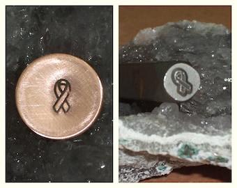 Awareness Ribbon Metal Stamp - 6mm
