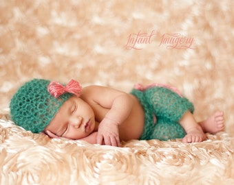 Boho Baby Hat and Pants Set Knitting Pattern - 4 Sizes Included - Permission to Sell Finished Product - PDF Sale - Instant Digital Download