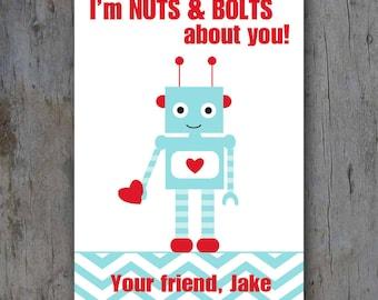 Printable Robot Valentine Card