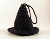 Black Witch Hat - Halloween Amigurumi - Decoration