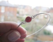 RED CORAL SMALL bangle bracelet