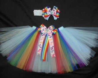 My Little Pony tutu set, custom made any size Newborn-4t