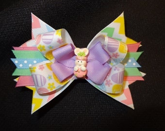 Easter bunny hairbow