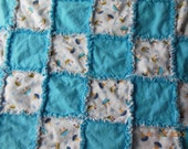 Baby Rag Quilt Blanket with Boats
