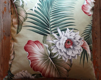 tropical flower 45cm sq cushion