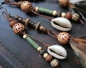 Ethnic earring// Bohemian, Tribal, Feather earring