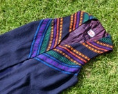 Vintage 60s 70s long vest cardigan-Small //Bohemian, Woodstock, Hippie