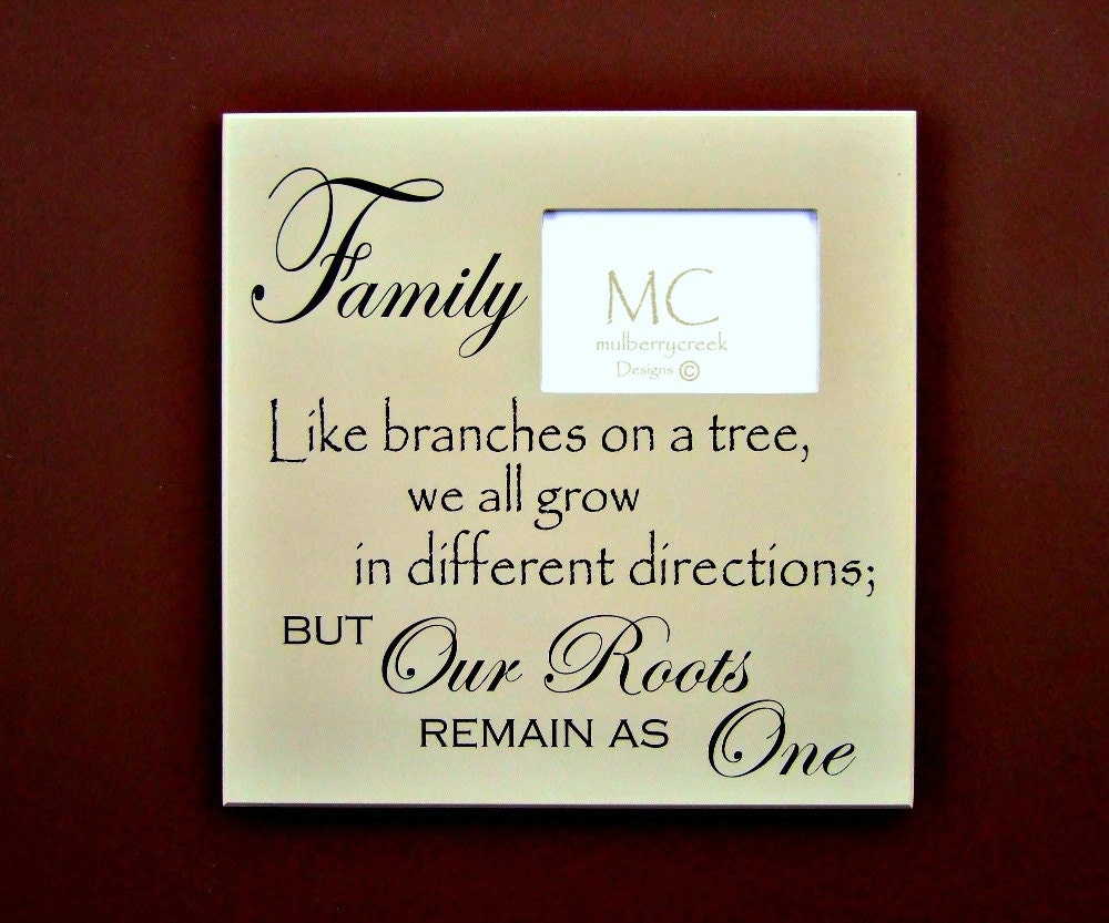 Family Photo Frame Like Branches On A Tree Family Frames