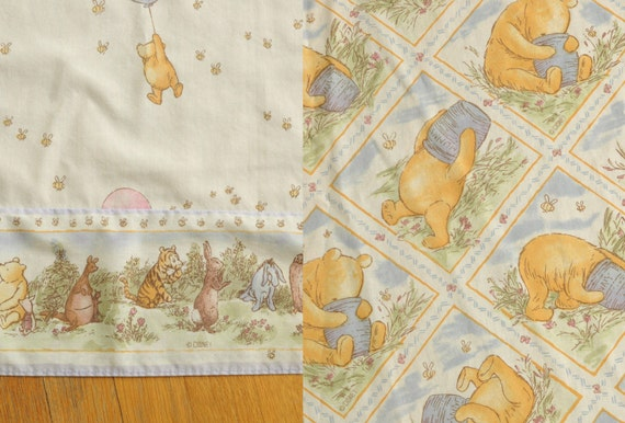 Winnie the pooh balloon bed sheet set twin flat fitted disney tigger
