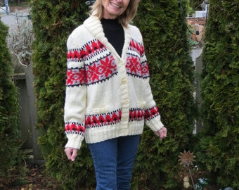 Fair Isle in Red, Black and Cream