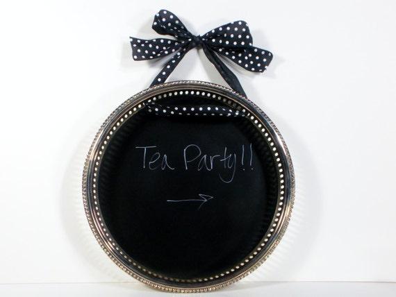Chalkboard tray / decorative chalkboard / kitchen chalkboard / message board / menu board / deep ornate border / upcycled / shabby chic