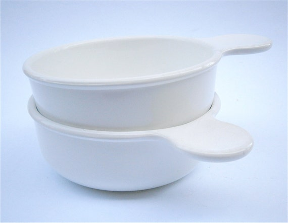 Vintage Corningware Grab It White Cereal Soup Ceramic Plain