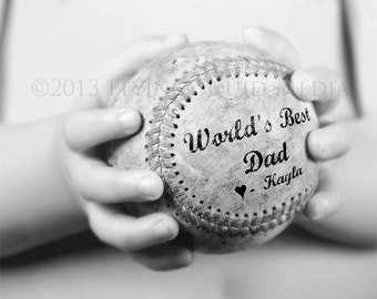 Personalized Gift for Dad - 5x7 to 20x24 (price varies) Baseball Print -Fathers Day Gift From Kids - Sports Decor