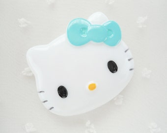 1pc - LL Light Blue Bow Kitty Decoden Cabochon (48x40mm) HK10011