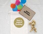 Unicorn Birthday Card (Bag)