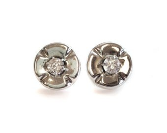 Vintage Sterling Silver and Cubic Zirconia Earrings