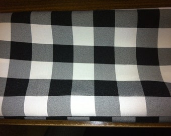 Set of 8 Dinner Napkins in Checker Black and White Checker Fabric  16 x 16 Wedding Party Reception Baby Shower