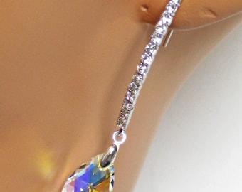 Bridal Earrings, Rhinestone Bridal Jewelry, Wedding Earrings, Crystal Drop Earrings, Gifts, Wedding Jewelry