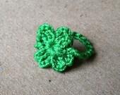 Crocheted Lucky Clover Ring