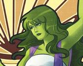She-Hulk  Art Nouveau Print