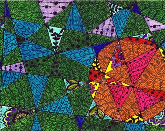 Abstract I - Original Mixed-Media on Canvas, 7 x 5