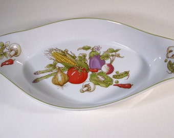 Thanksgiving Harvest Vintage Rosenthal Netter Soufflé Dish Vegetable Collection 1980s