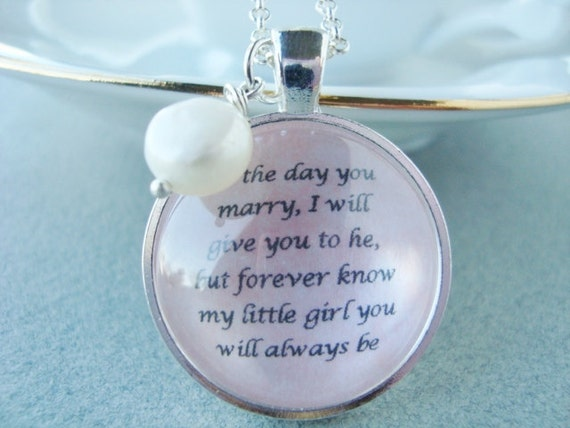 Father Daughter Wedding Gifts: Father To Daughter Bridal Pendant By SweetlySpokenJewelry