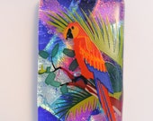 Scarlet Macaw Tropical Pendant