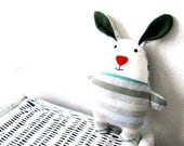 Pattern rag doll rabbit stuffed bunny soft toy bunnie softie sewing tutorial soft plush plushie pdf