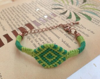 Single diamond friendship bracelet