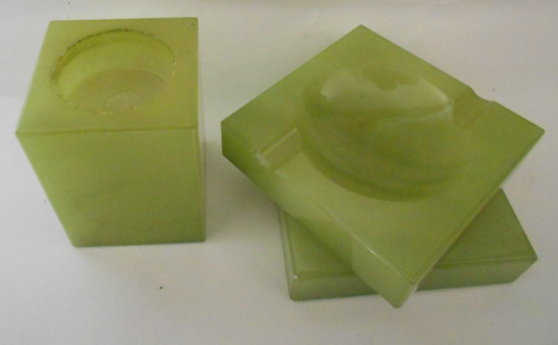 Vintage Green Onyx Marble Alabaster Jim Tirrenia Italy