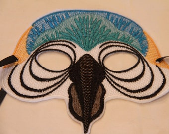 Embroidered Parrot Mask - Child