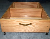 Under Bed Storage - Rolling Drawer - Storage Box for Shoes, Childrens Toys - Bedding - Clothes - Files - Purses