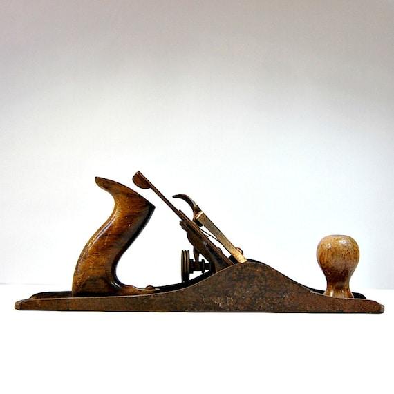 1930s Vintage Tools Stanley Bailey Hand Planer No 5 Rosewood HandlesVintage Stanley Tools