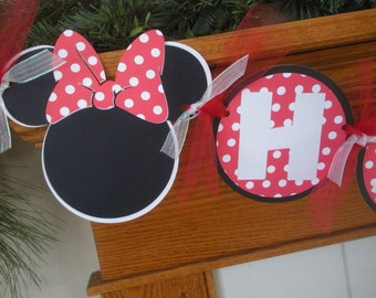 Birthday Party Package, Minnie Mouse Happy Birthday Party Package, Red White Black Minnie Mouse Party Package