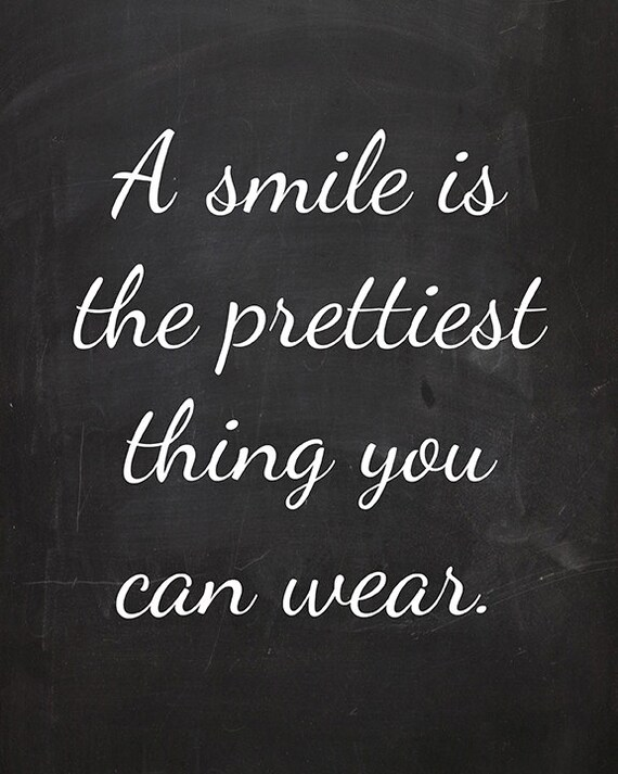 a smile is the prettiest thing you can wear 4x6 faux