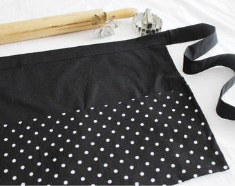 Classic Black and White Dot Adult Apron
