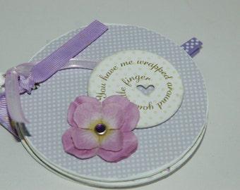 Baby girl premade mini scrapbook album- chipboard brag book baby shower
