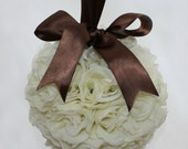 RESERVED FOR ANNIK Two Ivory Rose Pomander, More Colours Available