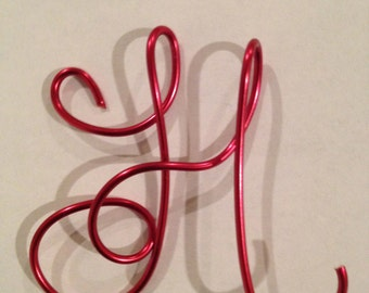 Letter H, Copper Wire, Etsy jewelry, Lilyb444,