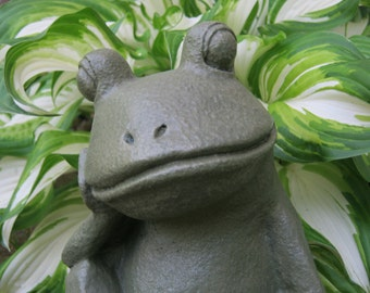 Cast Iron Frog Decor Green Gold Pick Color Garden Frog