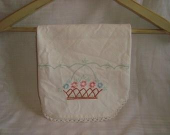 Vintage Linen Table Cloth Tablecloth