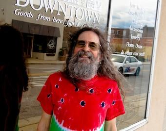 Plus Sized Watermelon Tie dyed Tee Shirt