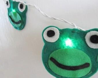 Frog String Lights, Night Light, Whimsical Nursery Decor, Baby Shower gift, toddler gift