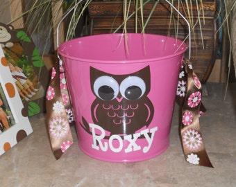 Custom Owl metal 5qt  bucket
