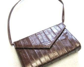 Brown Vintage Purse Chestnut Handbag